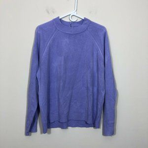 Karen Scott Sz XXL Purple Mock Turtleneck Sweater